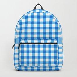 Gingham Print - Blue Backpack