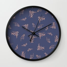 Imperfection branches - Calming Purple Wall Clock