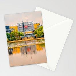 Pittsburgh Pennsylvania Football Stadium Reflection Sports Fan Print Stationery Cards
