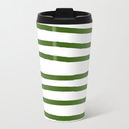 Simply Drawn Stripes in Jungle Green Travel Mug