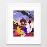 doom Framed Art Prints featuring DOOM by Kim Nguyen