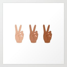Peace Hands Art Print