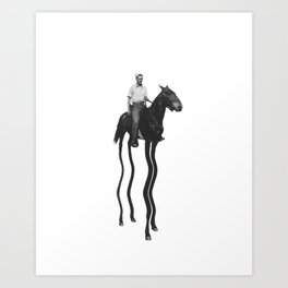 Tall Horse Art Print
