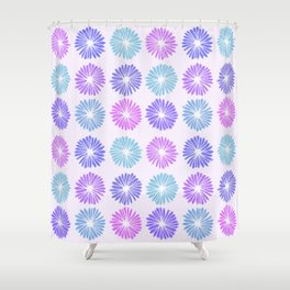 Playful Flowers Cool Shower Curtain