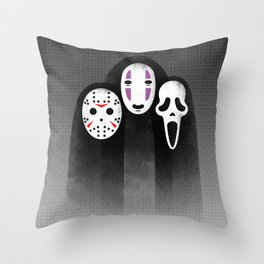 The Three MASKeteers Throw Pillow