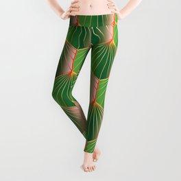 Glam Rock Peacock Green Leggings