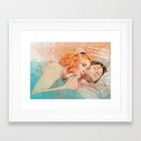eternal sunshine of the spotless mind Framed Art Prints featuring Eternal Sunshine of the Spotless Mind by reviandana