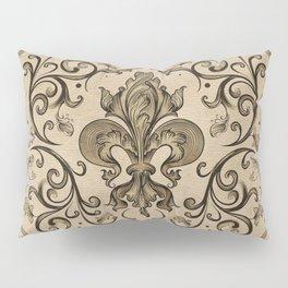Vintage Fleur-de-lis ornament  Pillow Sham