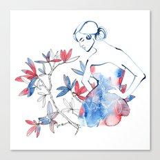 bonjour mademoiselle Canvas Print