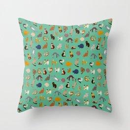 Kitties everywhere Throw Pillow