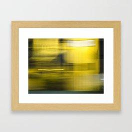 Yellow Lights Speed Effect Framed Art Print