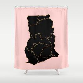 Ghana map Shower Curtain