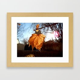 I ♥ Autumn Framed Art Print