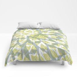 Leaf mandala // tropical leaf circular pattern Comforters