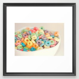 Fruit Loops Framed Art Print