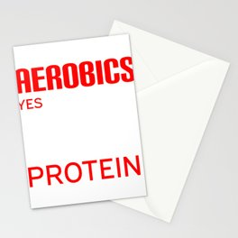 Get into fitness with this Aerobic Tshirt Designs Aerobics Protein Stationery Cards