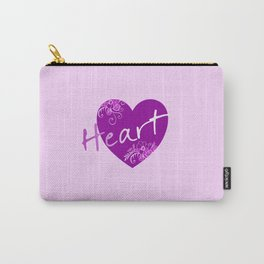 Dark violet HEART - Typo Carry-All Pouch