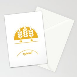 Eat Sleep Home Brewery Repeat Beer Brewing Ciders Fermentation Gift Stationery Cards