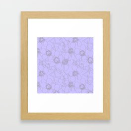 Australian Waxflower Line Floral in Lilac Framed Art Print