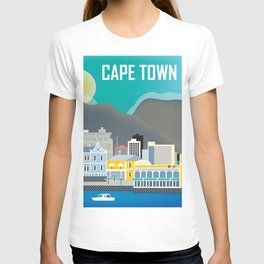 Cape Town, South Africa - Skyline Illustration by Loose Petals T-shirt