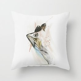 Drift Contemporary Dance Throw Pillow