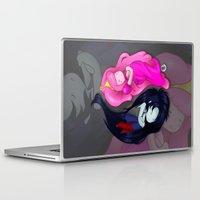 yin yang Laptop & iPad Skins featuring Yin+Yang by laPanny