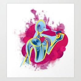 Music - Heart (Life) Art Print