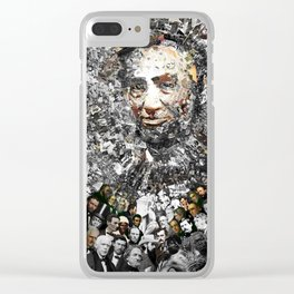 """""""Rendering Myself Worthy"""" Abraham Abe Lincoln. Clear iPhone Case"""