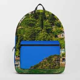 Lugano, Switzerland canton of Ticino bordering Italy, Lake Lugano village photograph Backpack