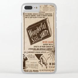 Sanity Clear iPhone Case