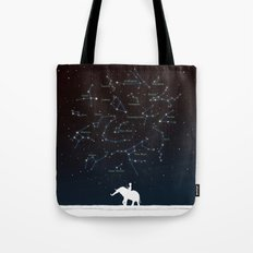 Falling star constellation Tote Bag