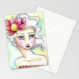 Lotus Flower Girl Stationery Cards