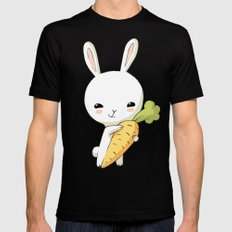 Bunny Carrot 2 Mens Fitted Tee Black LARGE