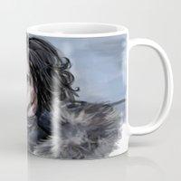 jon snow Mugs featuring Jon Snow by amberandtigers