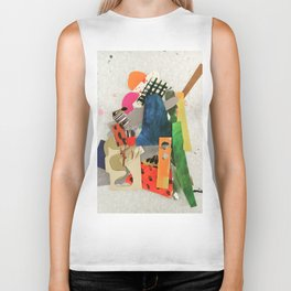 Sunset Mountain Paper Pile Biker Tank
