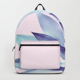Solar Agave - Pastel blue on pink Backpack