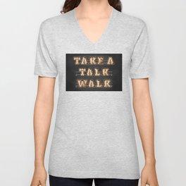 Take a Talk Walk Unisex V-Neck