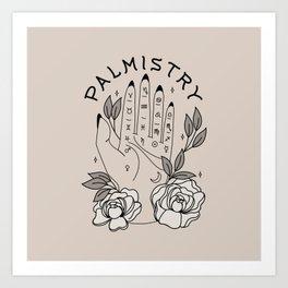 Palmistry & Peonies Art Print