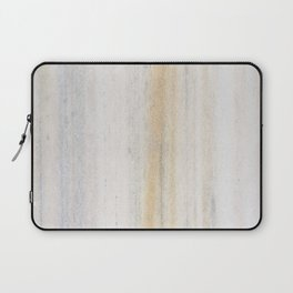 Rustic gray gold yellow vintage white marble Laptop Sleeve