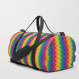 Rainbow Argyle Duffle Bag