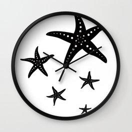 Minimal Starfishes Wall Clock