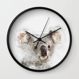 Koala Watercolor Wall Clock
