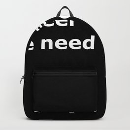 Top gun quote Backpack