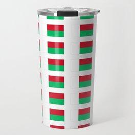 Flag of Madagascar -Malagasy,Madagasikara,Malgache,Bantu,Merina,Antananarivo. Travel Mug