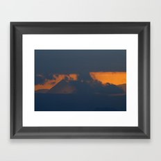 Pyramid mountain Framed Art Print