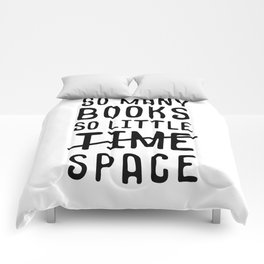 So many books, so little time // space Comforters