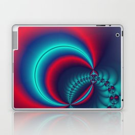 time for fractals -6- curtain Laptop & iPad Skin