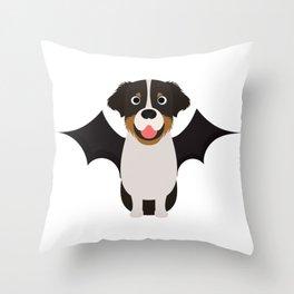 Australian Shepherd Halloween Costume Throw Pillow