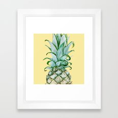 Yellow Pineapple , Tropical Fruit , Hawaiian Framed Art Print