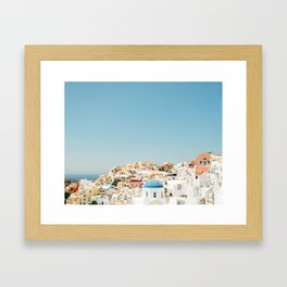View of Santorini Island Greece Oia Framed Art Print